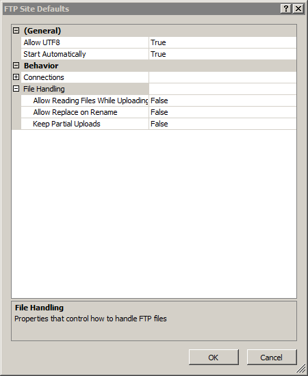 Default FTP File Handling Settings <fileHandling> | Microsoft Docs
