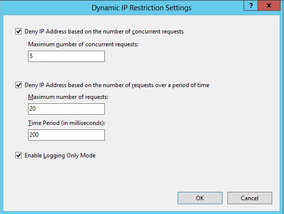 Deny by concurrent requests microsoft docs for Dynamic configuration tool