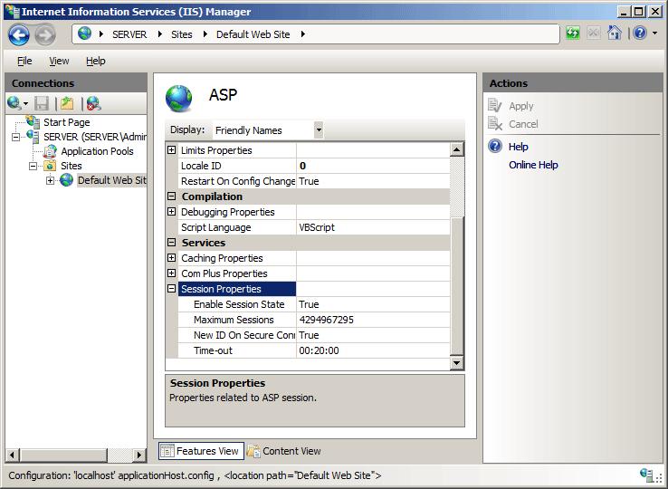 ASP Session <session> | Microsoft Docs