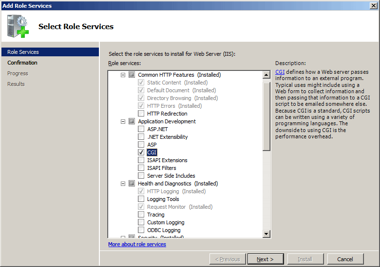 install iis role on windows server 2016