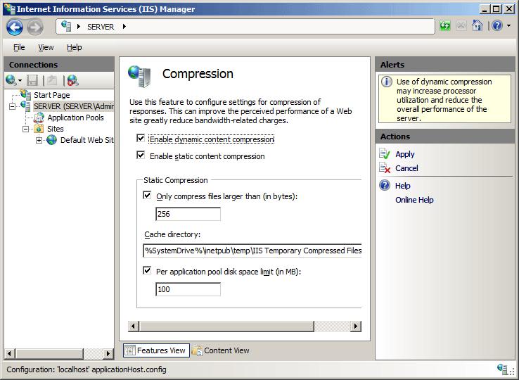 HTTP Compression <httpCompression> | Microsoft Docs