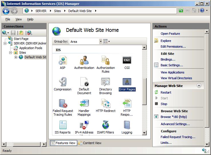 HTTP Errors <httpErrors> | Microsoft Docs