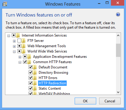 HTTP Redirects <httpRedirect> | Microsoft Docs