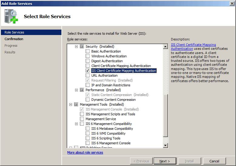 Iis Client Certificate Mapping Authentication
