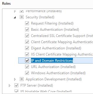 IP Security <ipSecurity> | Microsoft Docs
