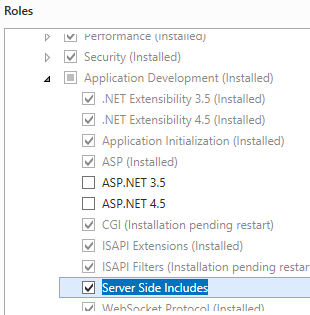 Server Side Include <serverSideInclude>   Microsoft Docs