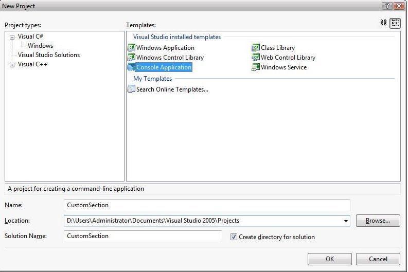 Extending IIS 7.0 Schema and Accessing the Custom Sections Using MWA