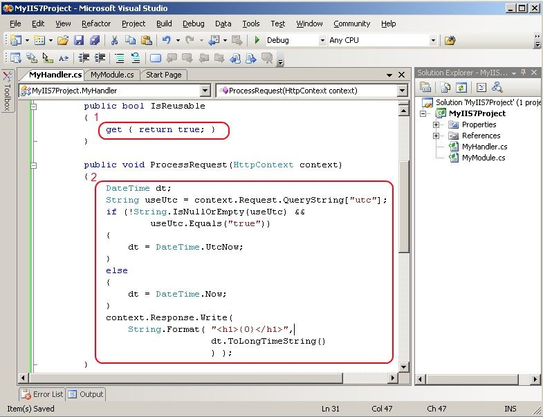 Developing IIS 7 0 Modules and Handlers with the  NET