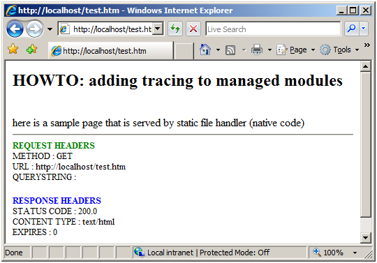 How to Add Tracing to IIS 7 0 Managed Modules | Microsoft Docs