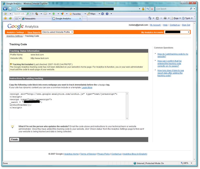 Sample: Web Analytics Tracking Module   Microsoft Docs