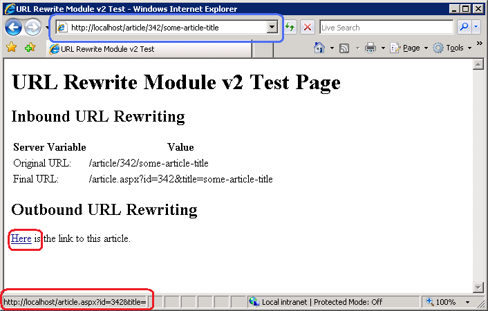 Creating Outbound Rules for URL Rewrite Module | Microsoft Docs