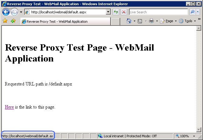 Reverse Proxy with URL Rewrite v2 and Application Request
