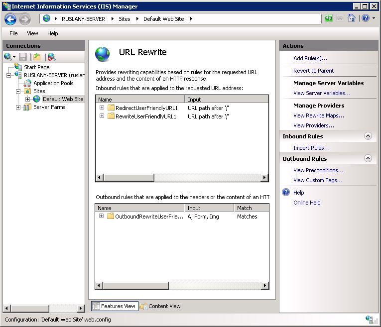 User Friendly URL - rule template   Microsoft Docs