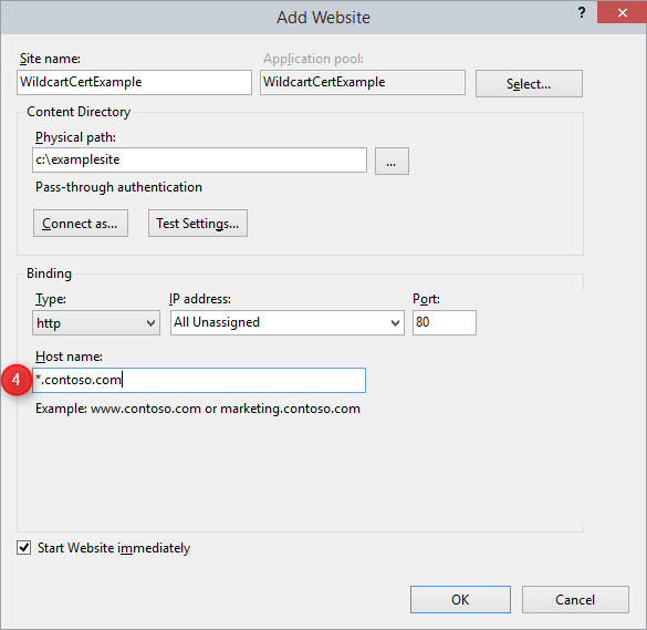 Wildcard Host Header Support   Microsoft Docs