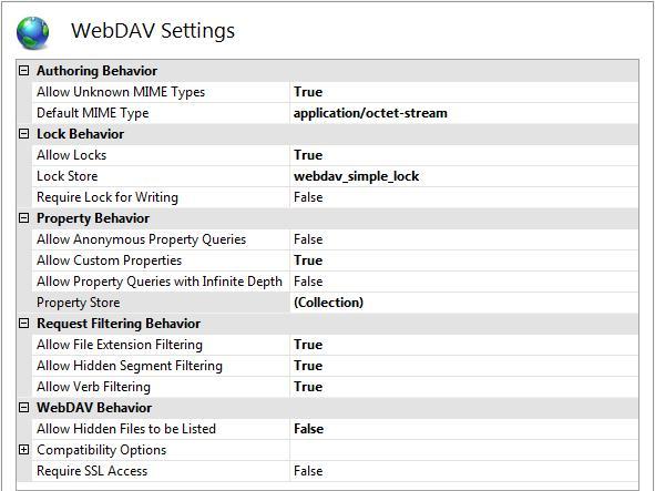 WebDAV Configuration. What s New for WebDAV and IIS 7    Microsoft Docs