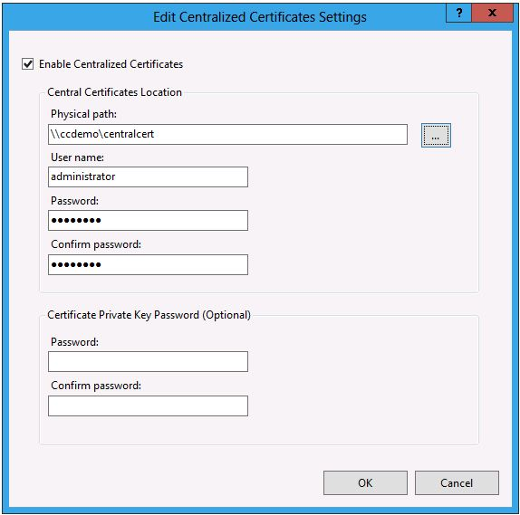 IIS 8.0 Centralized SSL Certificate Support: SSL Scalability and ...