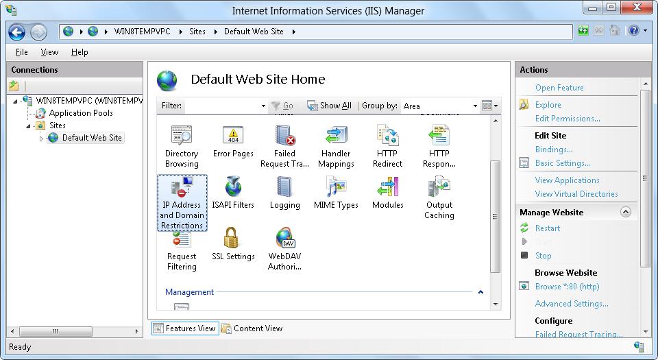 IIS 8 0 Dynamic IP Address Restrictions | Microsoft Docs