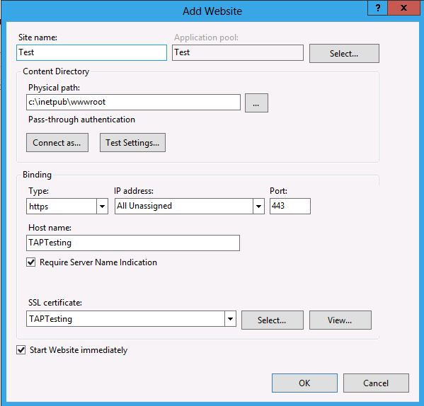 IIS 8.0 Server Name Indication (SNI): SSL Scalability