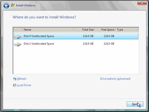 Install Windows Server 2008 and Windows Server 2008 R2