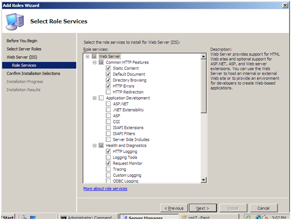 Installing IIS 7 on Windows Server 2008 or Windows Server