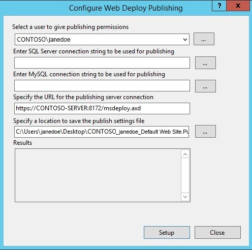 Installing and Configuring Web Deploy on IIS 8 0 or Later