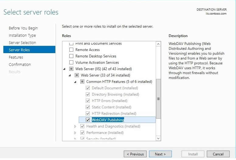 Installing and Configuring WebDAV on IIS 7 and Later | Microsoft Docs