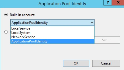 sharepoint app pool identity account