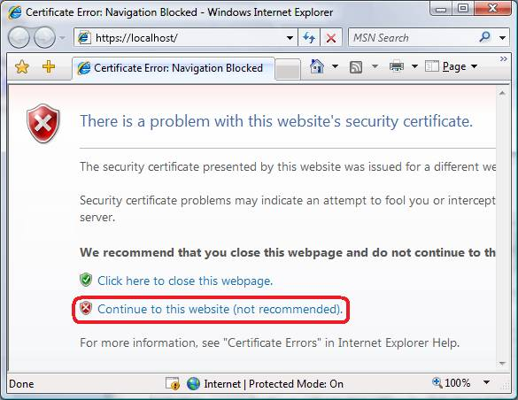 How to create a local ssl certificate for iis 7