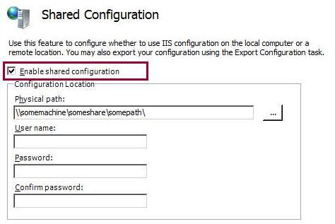 Shared Configuration   Microsoft Docs