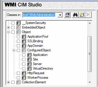 Get to Know the IIS 7 0 WMI Provider Using CIM Studio