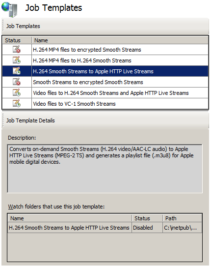 Transforming On-Demand Smooth Streams to Apple HTTP Live Streams