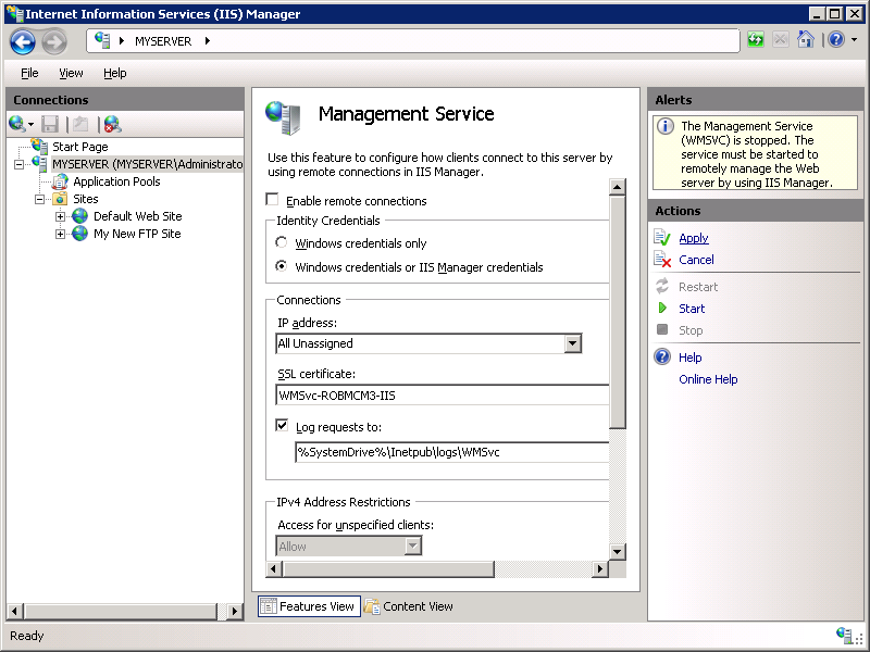 Configure Ftp With Iis Manager Authentication In Iis 7 Microsoft Docs