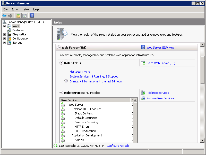 Configure FTP with IIS Manager Authentication in IIS 7