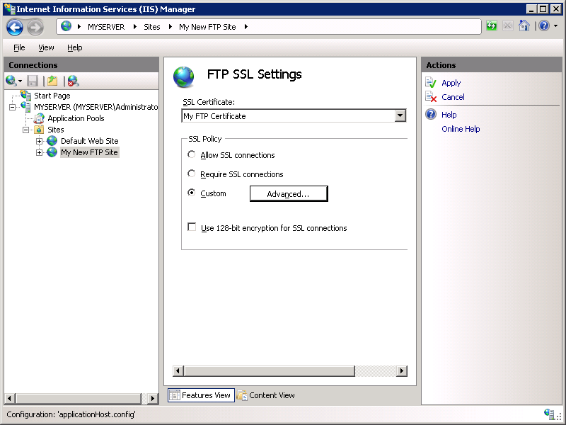 Using Ftp Over Ssl In Iis 7 Microsoft Docs