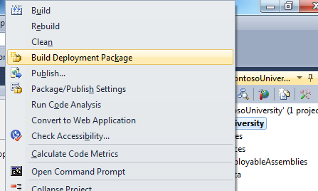 Building a Web Deploy Package from Visual Studio 2010