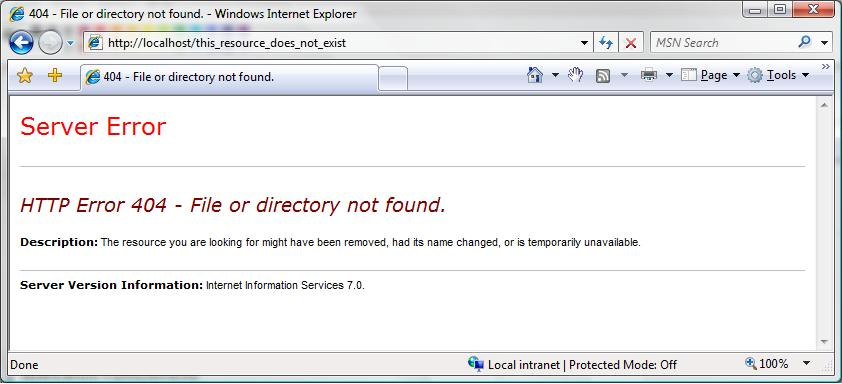 How to Use HTTP Detailed Errors in IIS 7 0 | Microsoft Docs