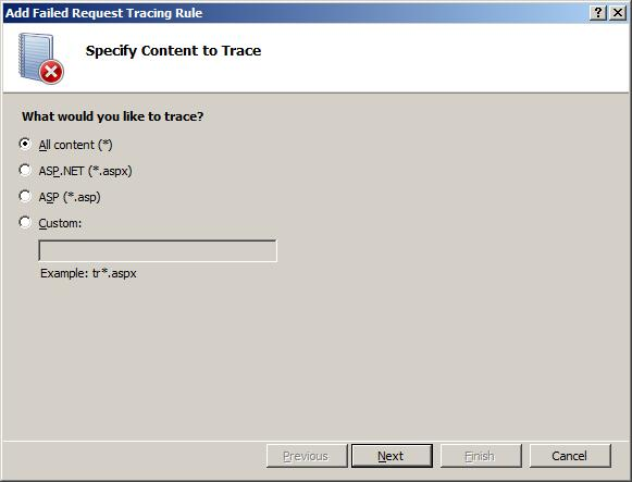 Troubleshooting Failed Requests Using Tracing in IIS 7