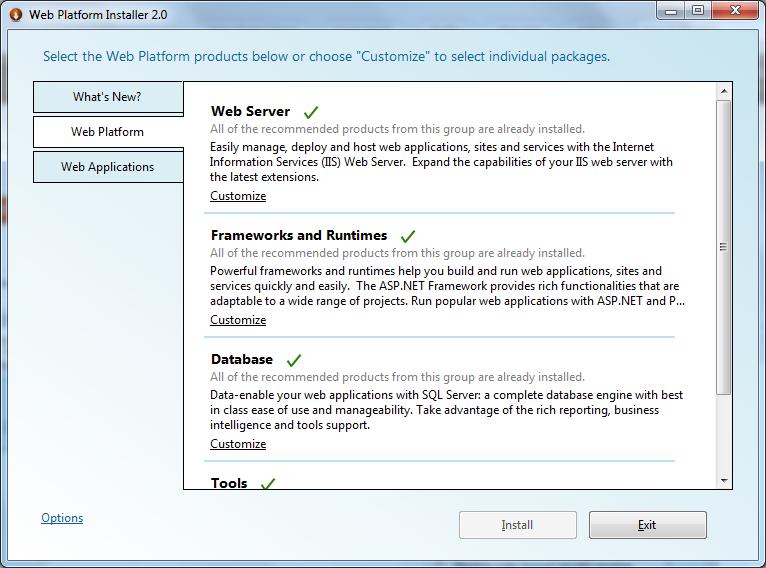 Microsoft Web Platform Installer 20 Microsoft Docs