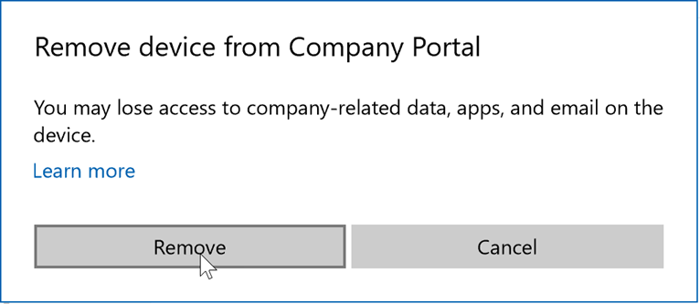 Remove your Windows device from Intune management
