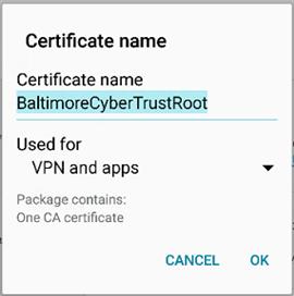 certificate font name