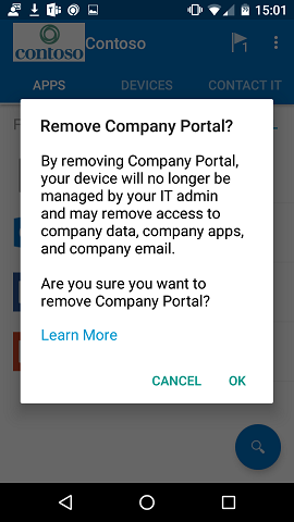 How to remove your Android device from Intune | Microsoft Docs