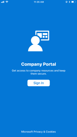 How To Sign In To The Company Portal App Microsoft Docs