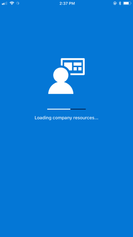 Loading company resources screen.