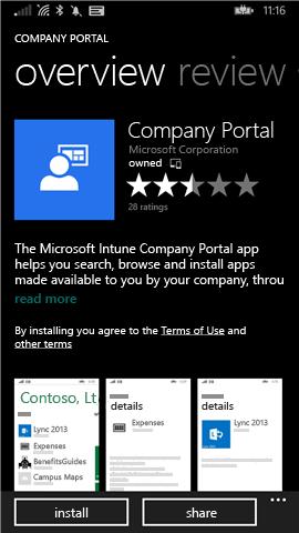 Install company portal