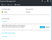 Set up a telecom expense management service in Microsoft