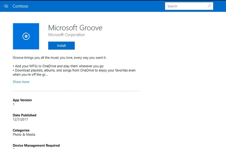 UI updates for Intune end-user apps - Microsoft Intune