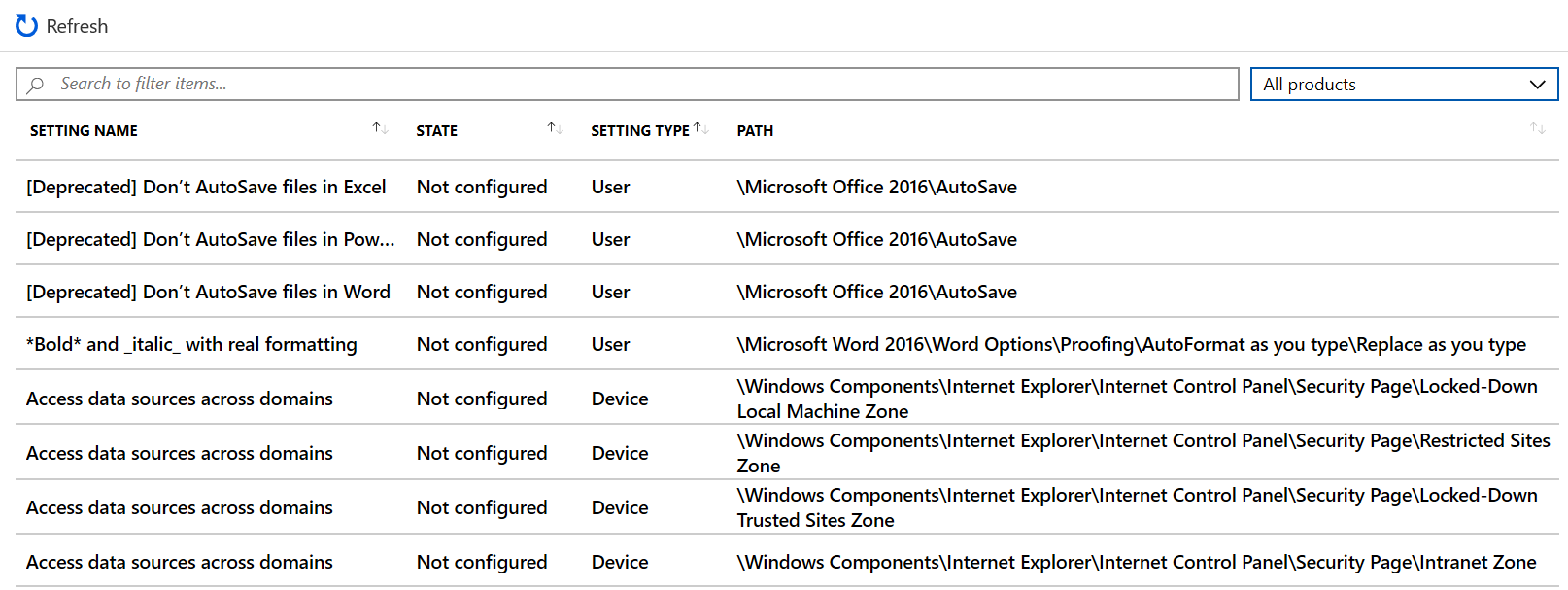 Use templates for Windows 10 devices in Microsoft Intune - Azure