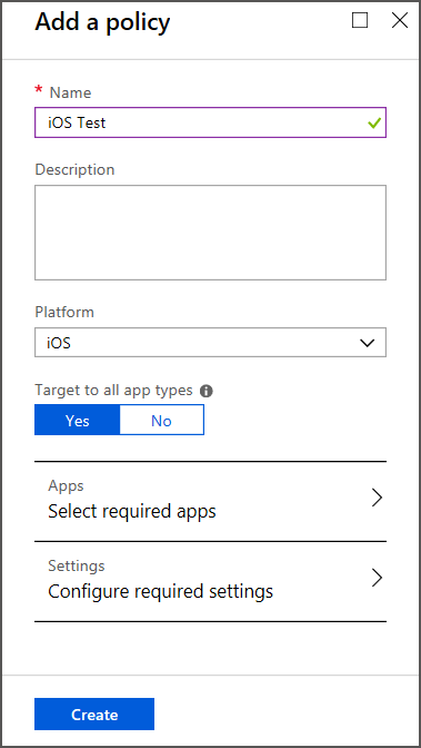 how to create app with app platform