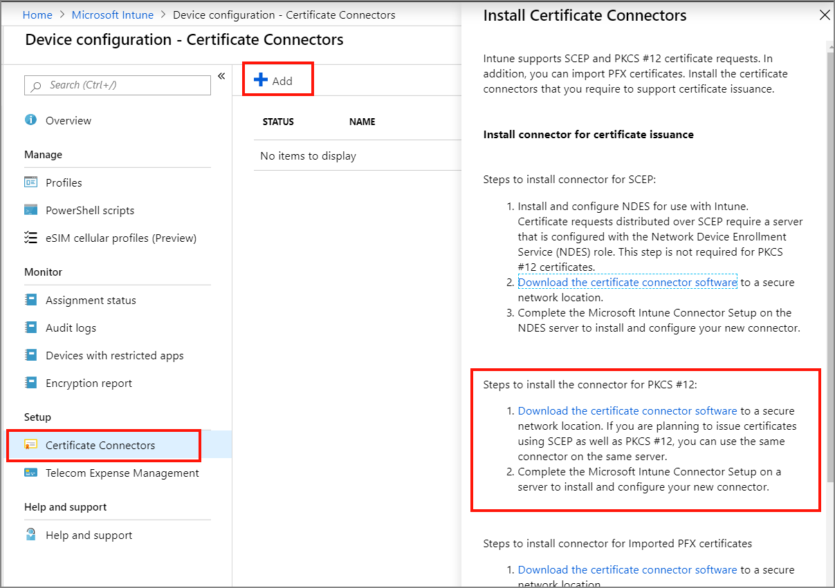 Issue DigiCert PKCS certificates with Microsoft Intune