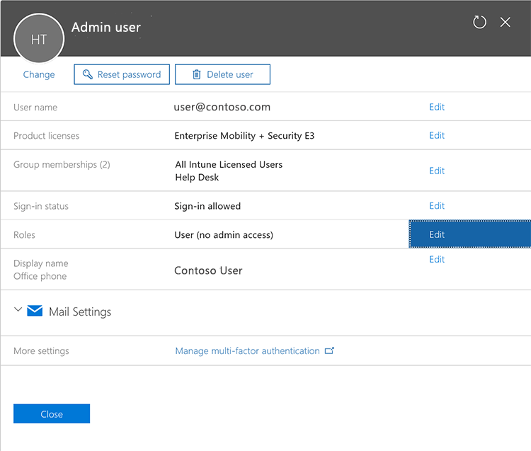 Add users and grant permissions - Microsoft Intune